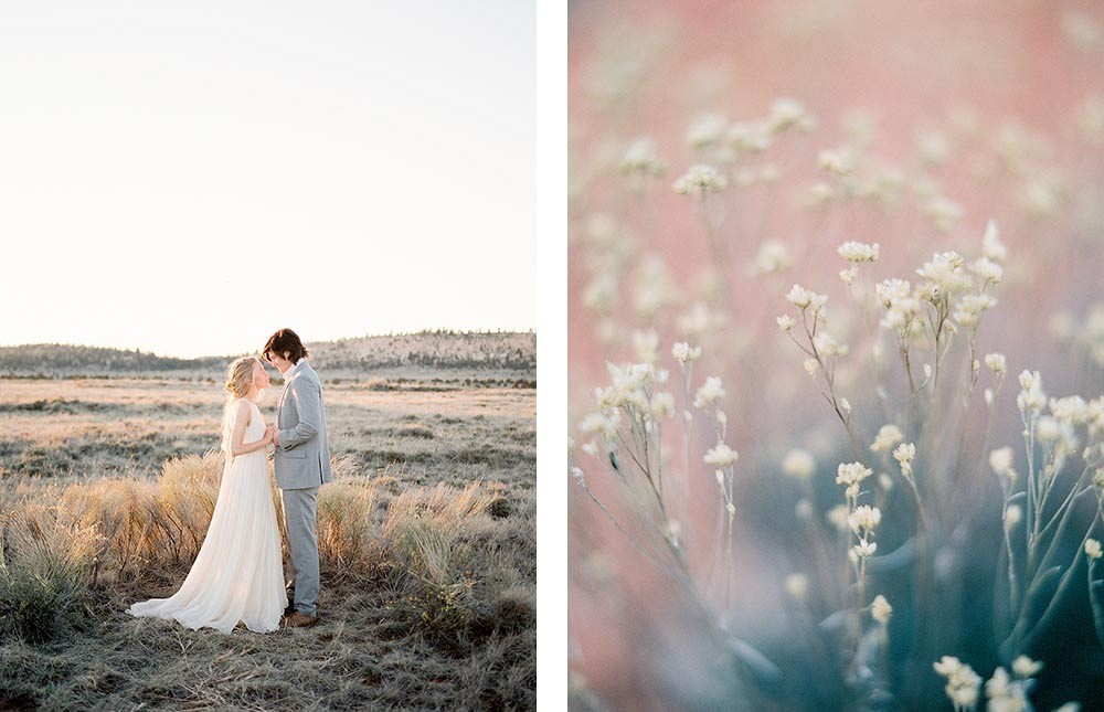 Romantic Desert Elopement by Jacquelyn Hayward Photography | Wedding Sparrow | fine art wedding blog