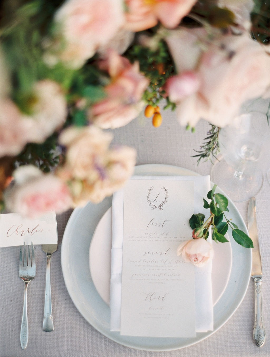 Blush and Copper Wedding Ideas at the Ritz Carlton Bacara