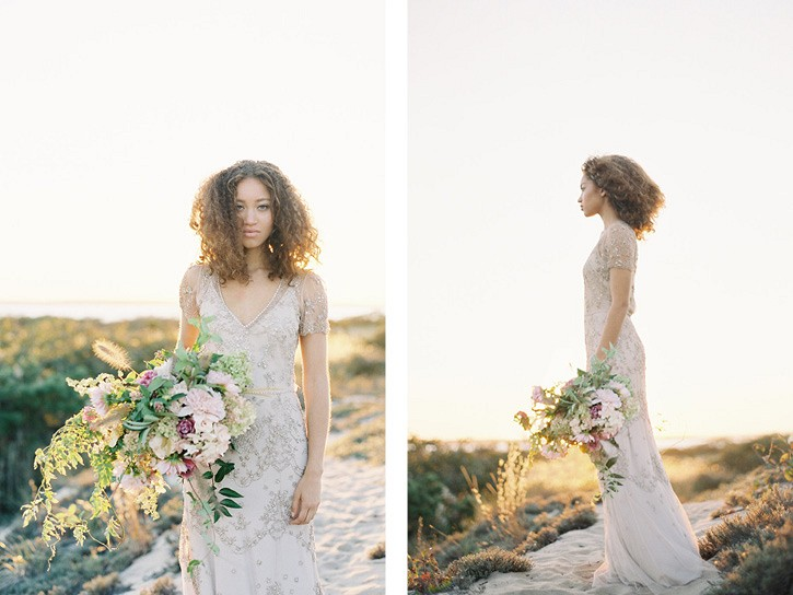 Sunset in the Dunes - Golden Bridal Inspiration