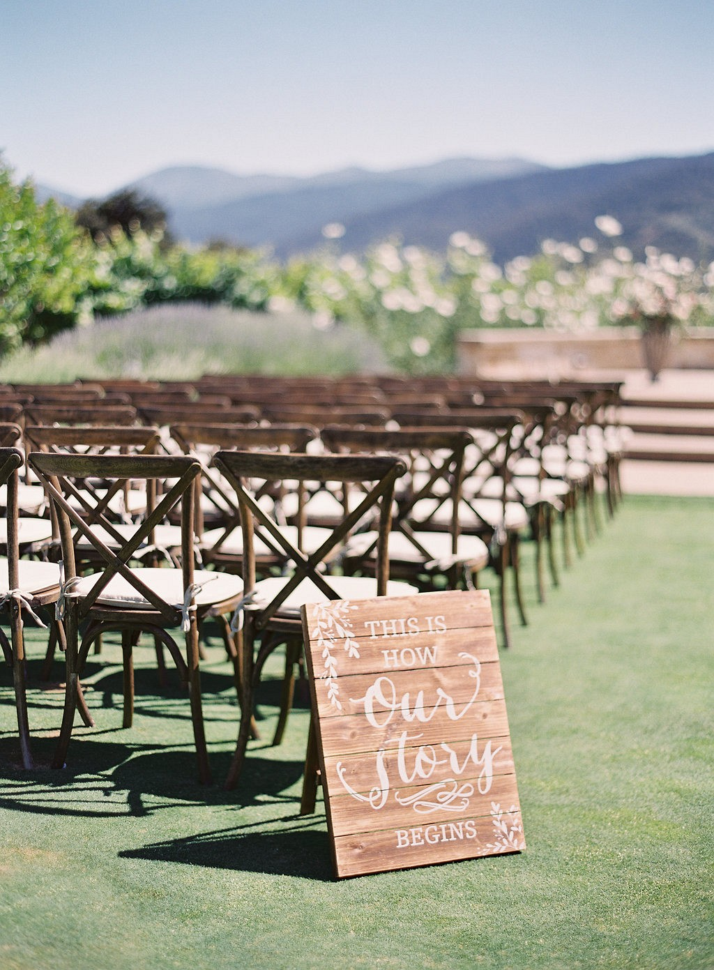 Romantic Carmel Valley Wedding with Mismatched Bridesmaids Dresses