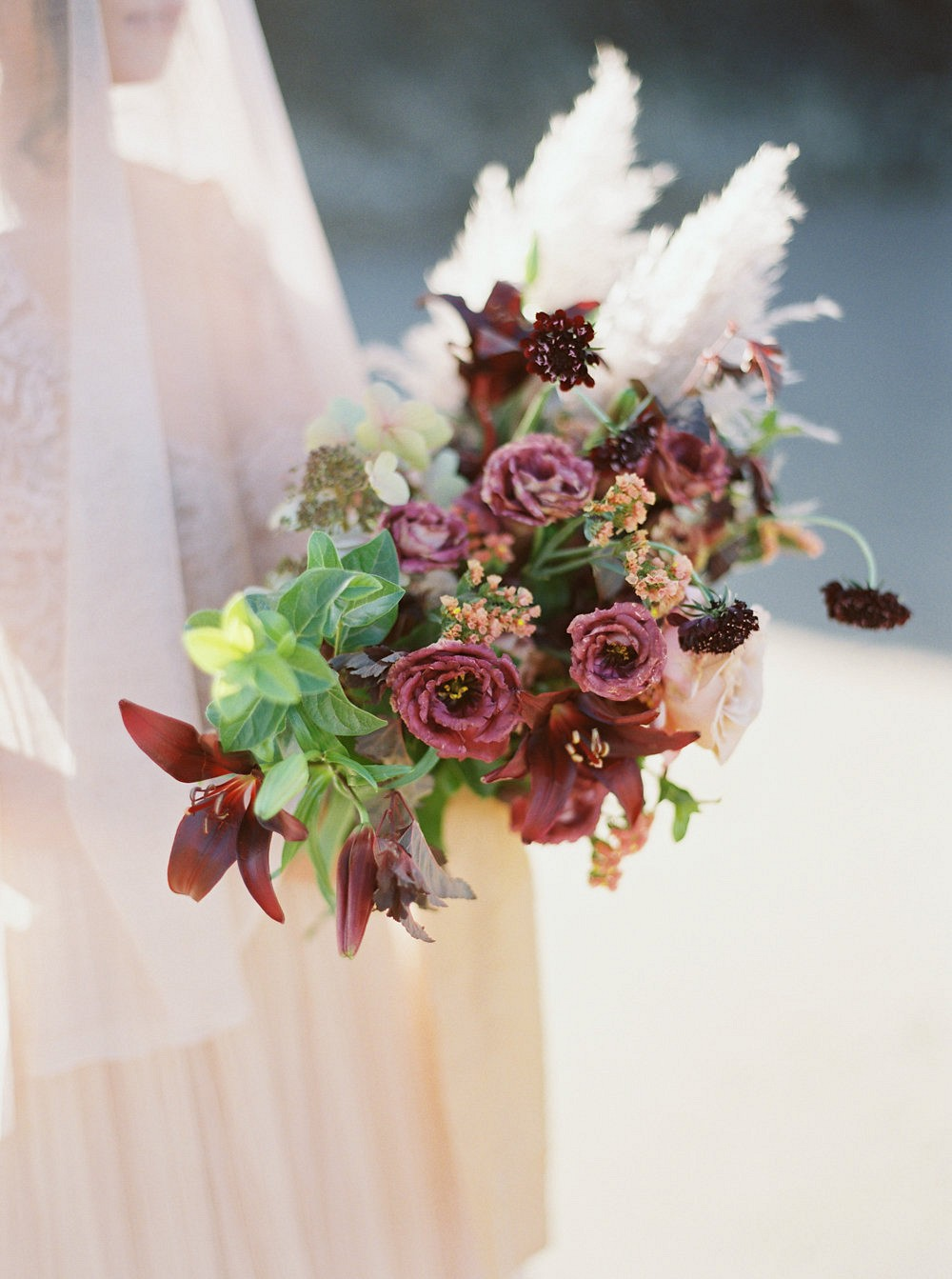 Blush and Bordeaux Sunrise Bridal Editorial in Oregon