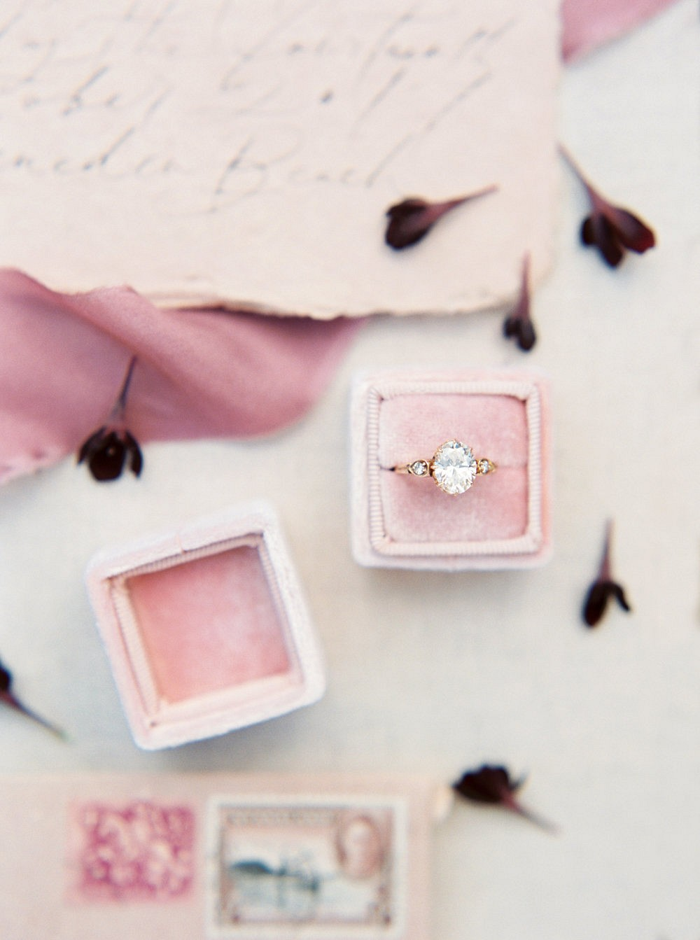 Blush and Bordeaux Sunrise Bridal Editorial in Oregon
