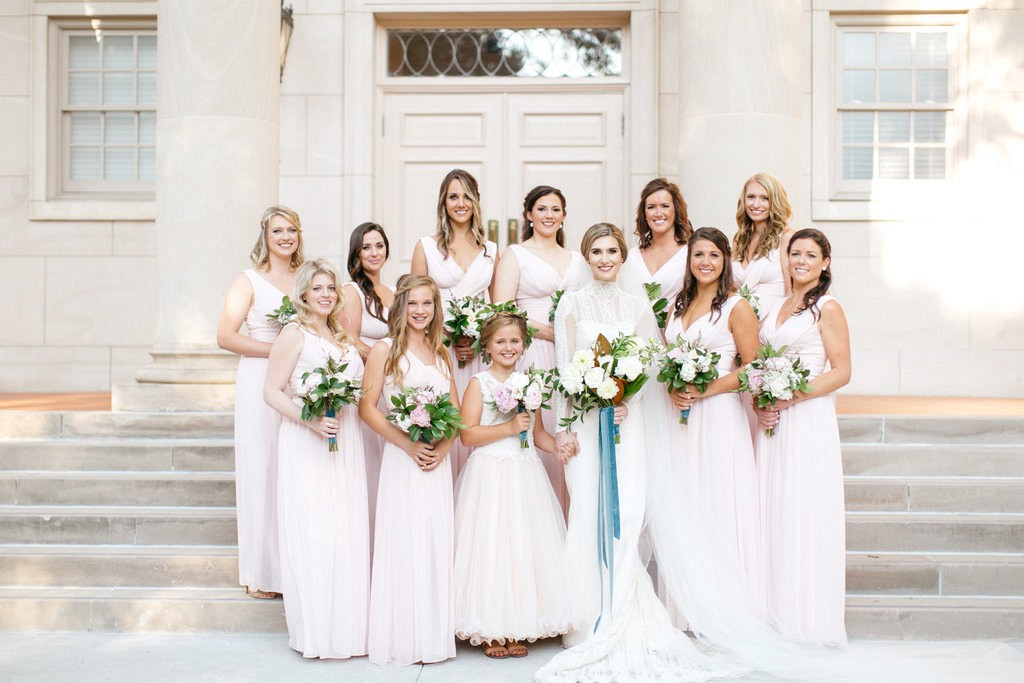 Elegant Texas real wedding with French Blue accents