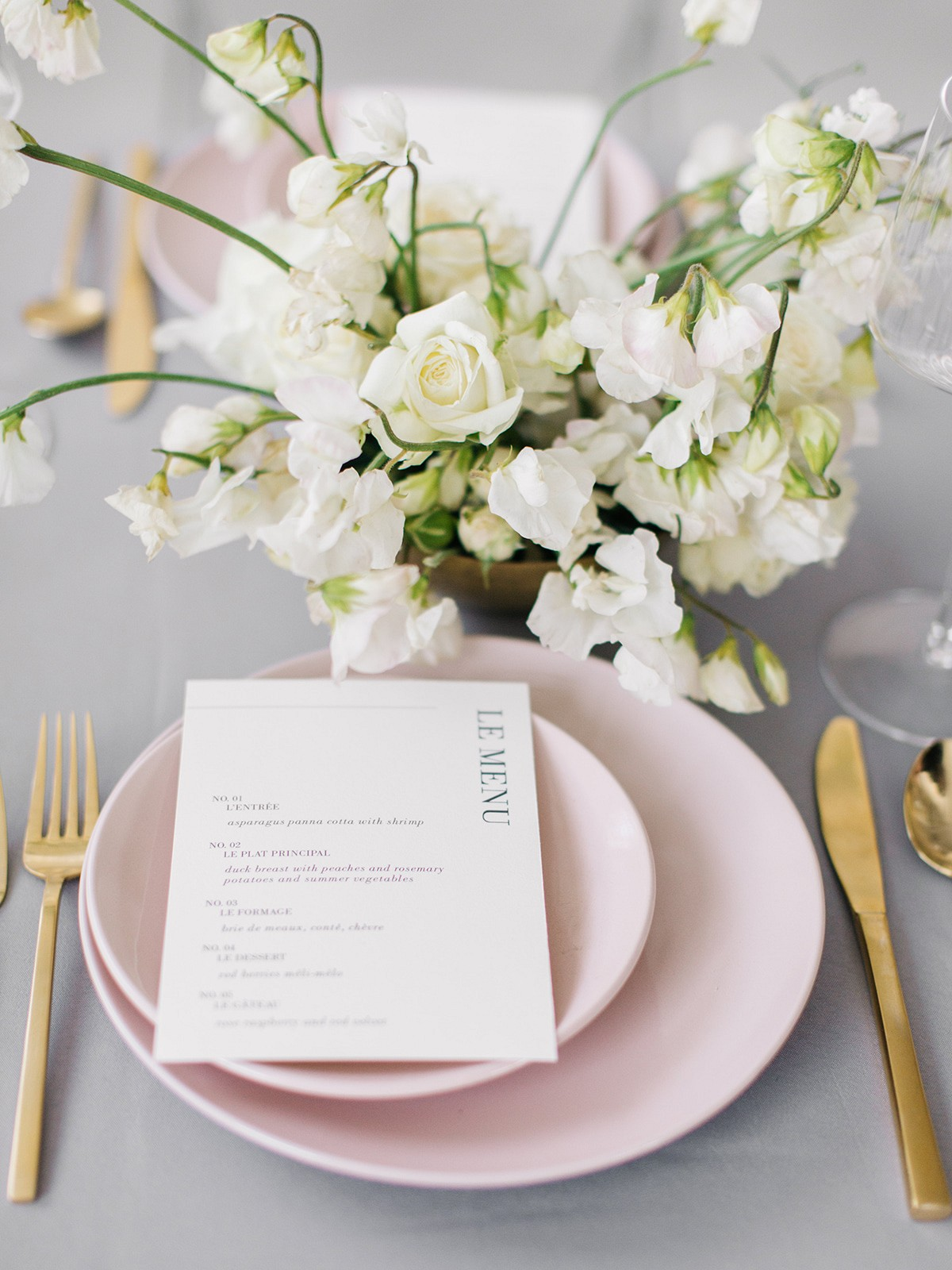 Modern and Feminine Indoor Wedding
