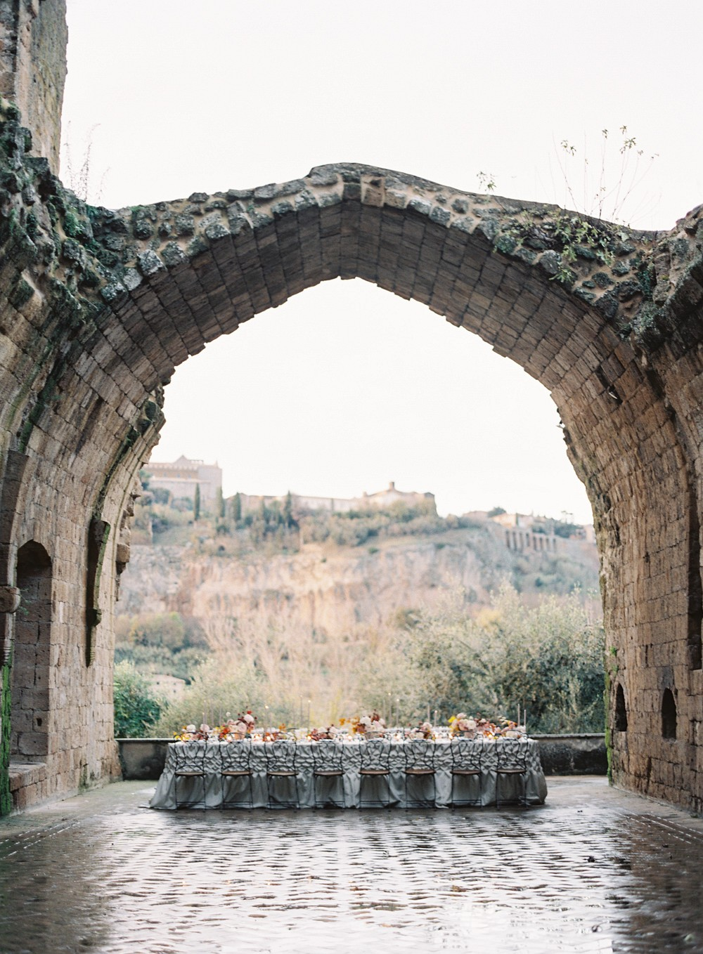 Terracotta and Grey Wedding Inspiration in Umbria