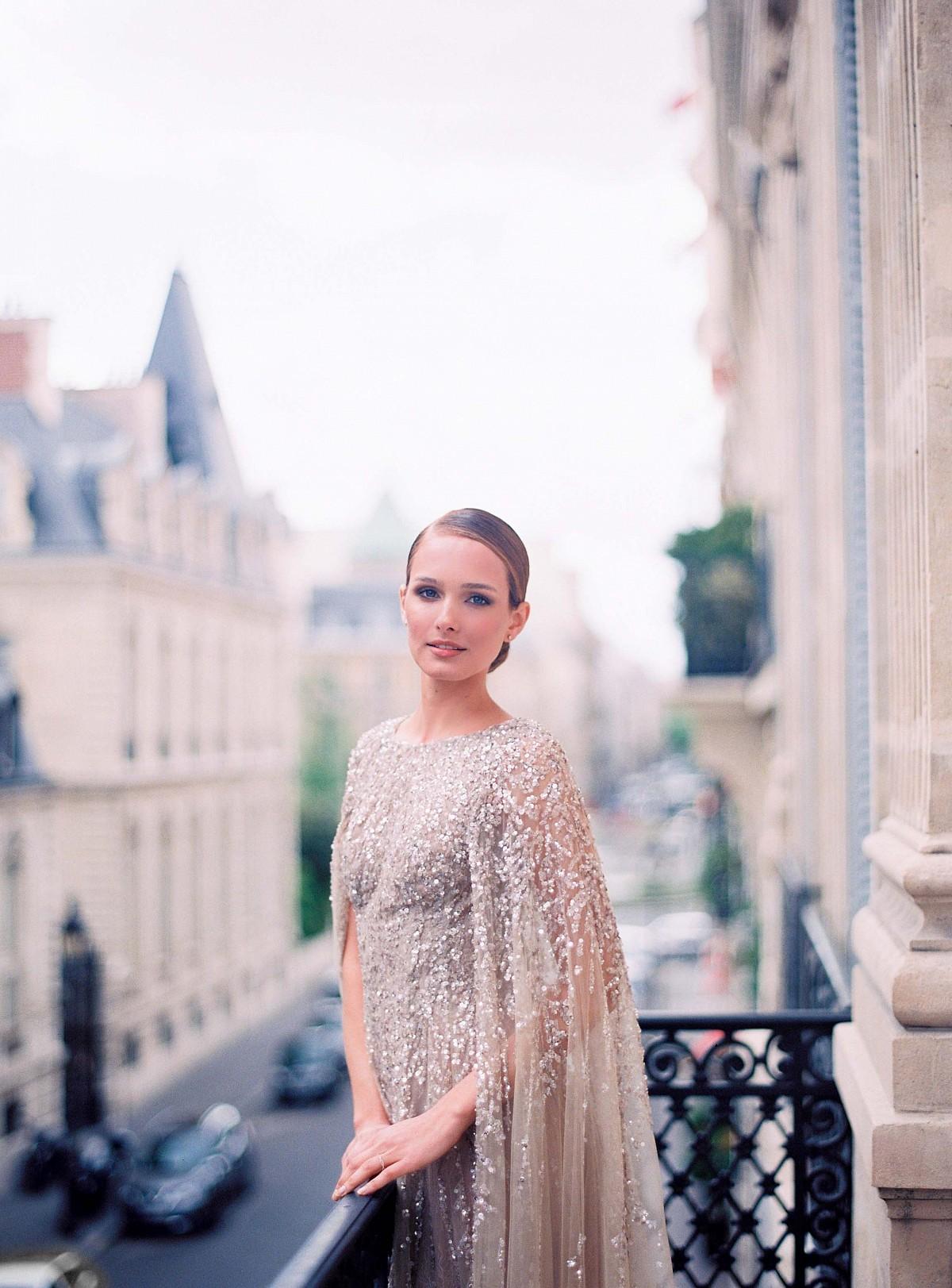 Glamorous Parisian Elopement in a Sequin Gown by Le Secret d'Audrey | Wedding Sparrow | wedding blog
