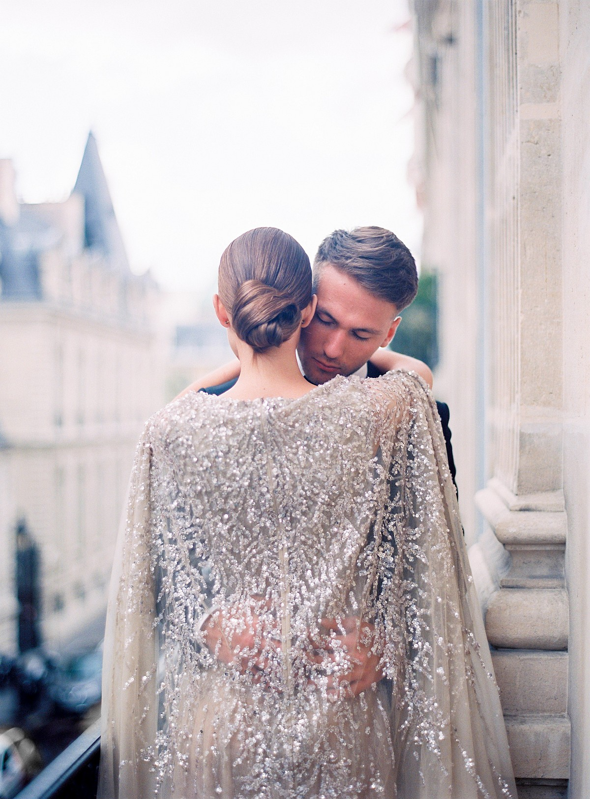 Glamorous Parisian Elopement in a Sequin Gown by Le Secret d'Audrey | Wedding Sparrow | wedding blog
