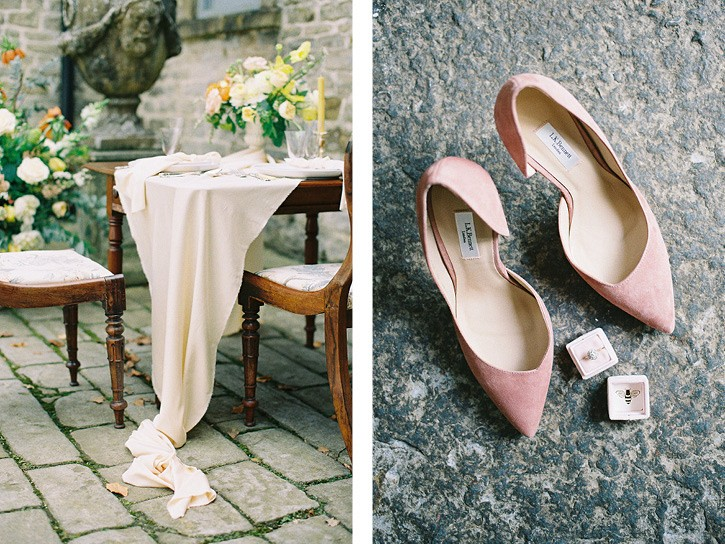Warm color palette wedding ideas