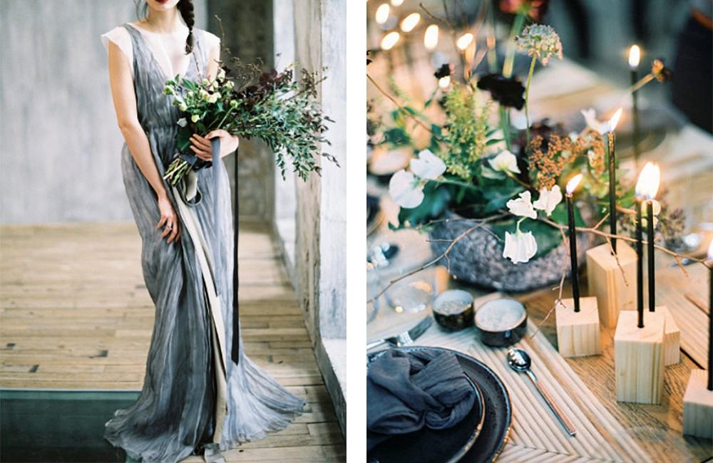 Minimalistic Wabi-Sabi Wedding by Max Koliberdin Photography | Wedding Sparrow | fine art wedding blog