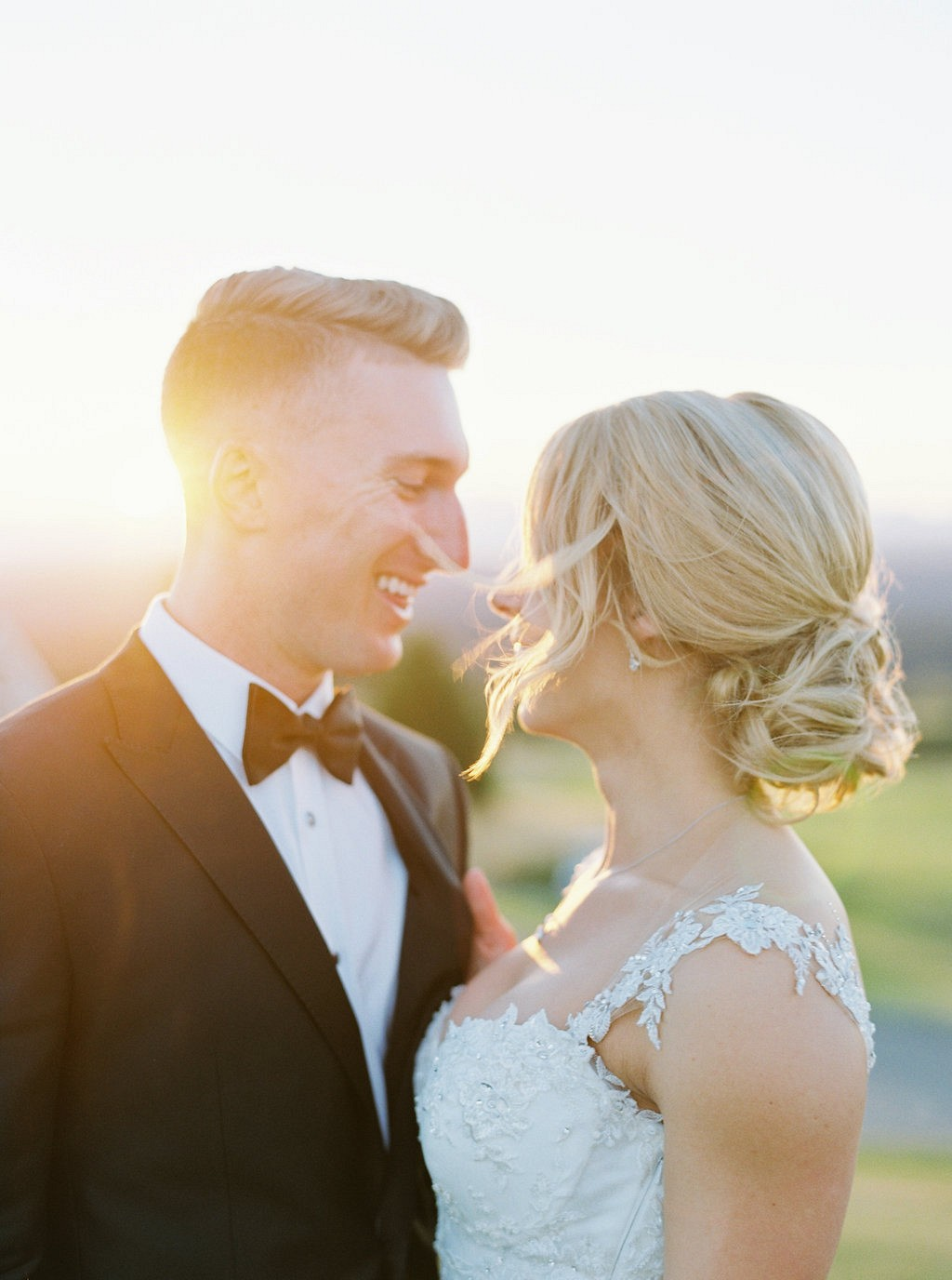 Melanie and Tyson's Supremely Elegant Blue and Blush Wedding