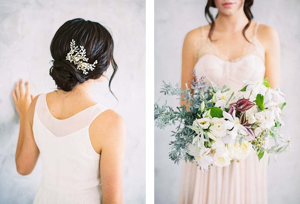 Maggie Wu bridal accessories for the fine art bride photographed by Sally Pinera | Wedding Sparrow