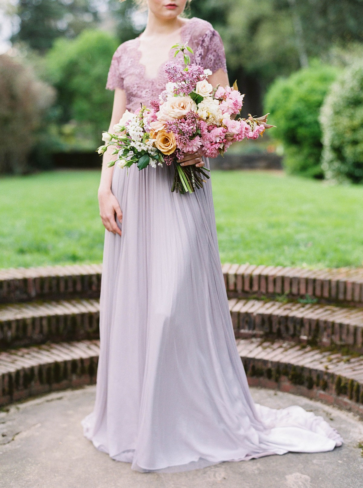 25 Best Colored Wedding Dresses for the Fine Art Bride