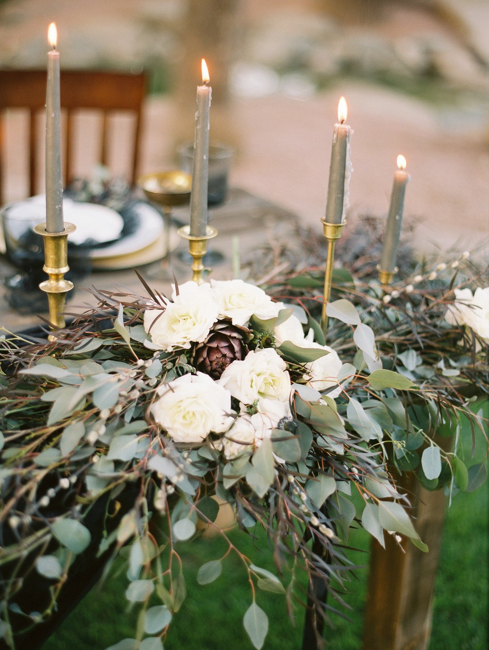 Leah and David's Moody Black and Gold Wedding