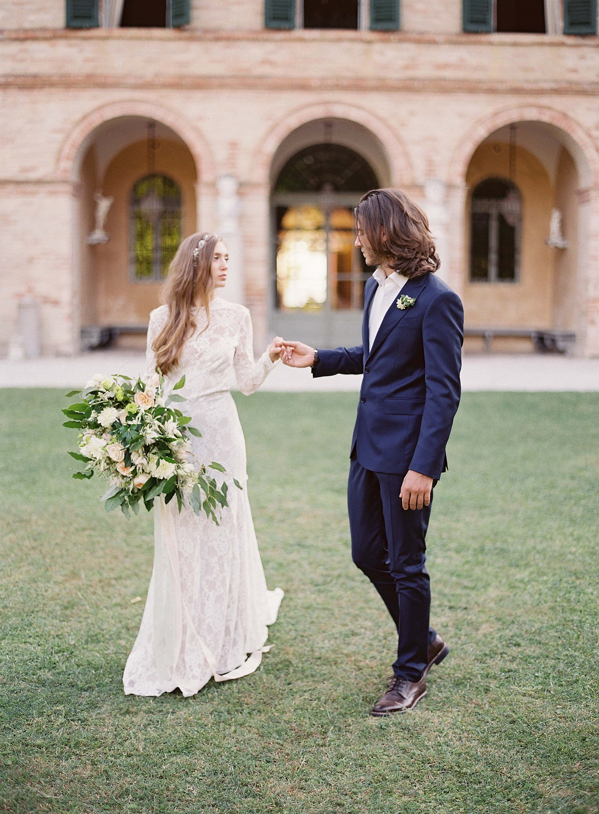 Reminiscent Destination Wedding in Italy