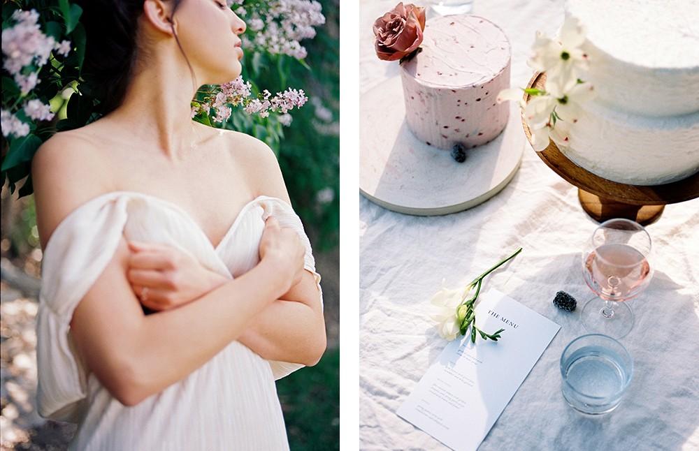 Megan Robinson - feminine bridal style inspired by lilac