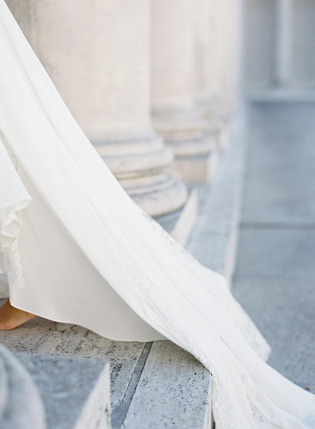 High Neck Wedding Dress Spring Bridal Look