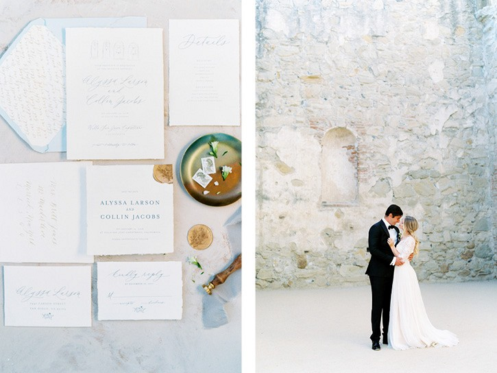 San Juan Mission Wedding Inspiration with neutral tones
