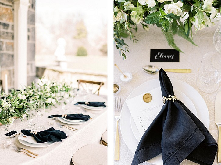 Black & White Elegant Mansion Wedding Ideas