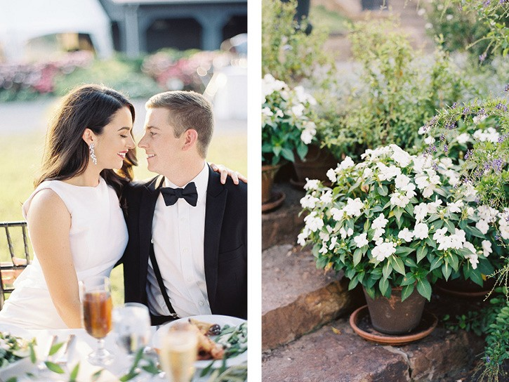 Monochromatic Moss Mountain Wedding