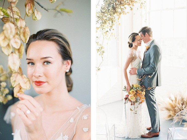 Fall inspired minimalist modern wedding inspiration