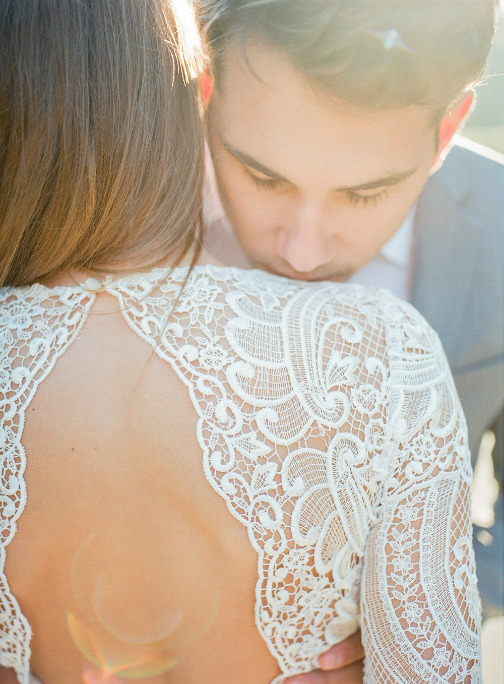 Spring Bridal Style in Long Sleeve Lace Dress