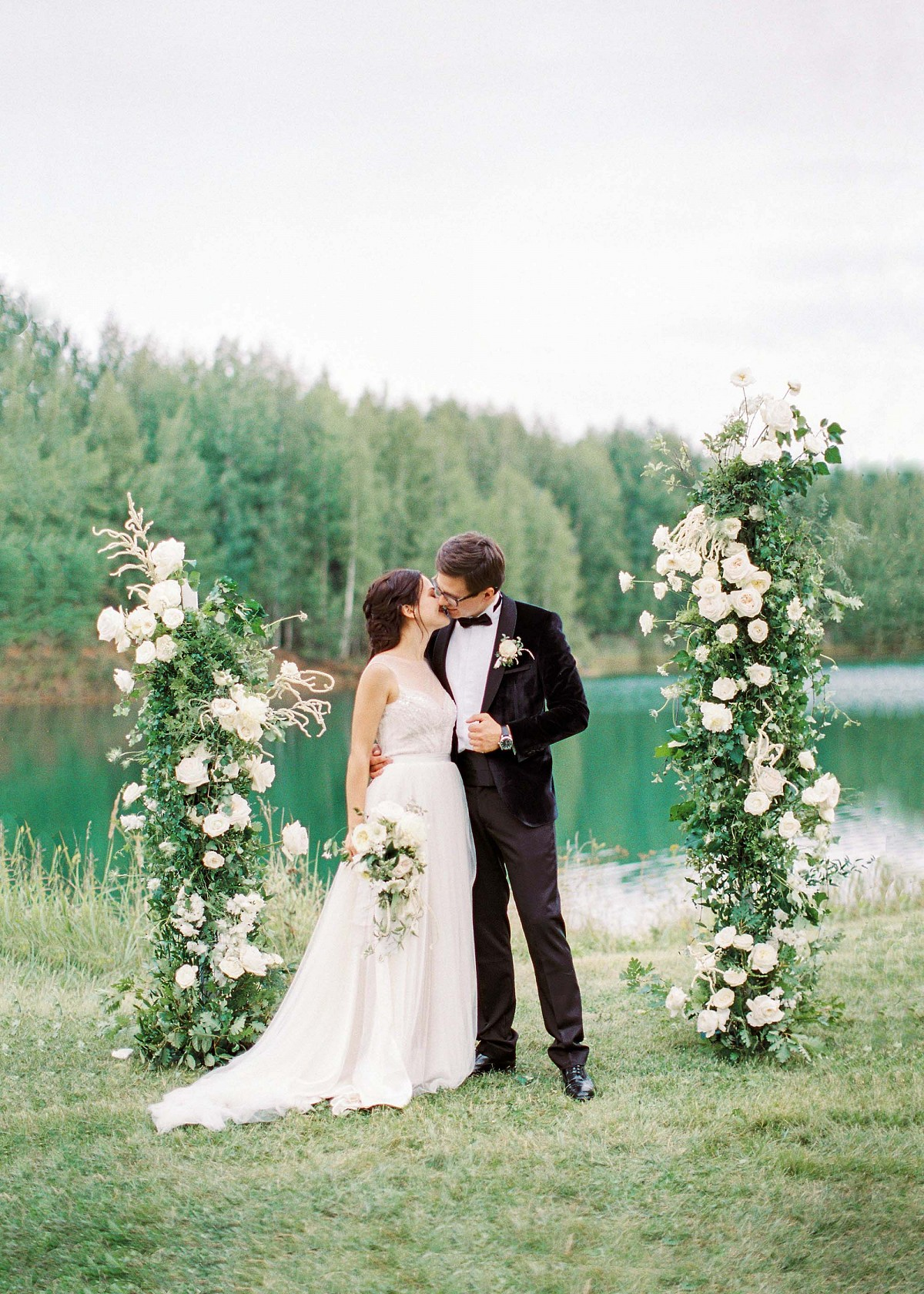 Olga and Alexs meaningful outdoor garden wedding | Wedding Sparrow fine art wedding blog