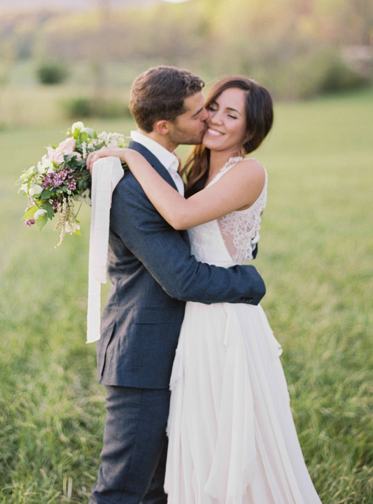 Natural, Organic Bride and Groom Portraits