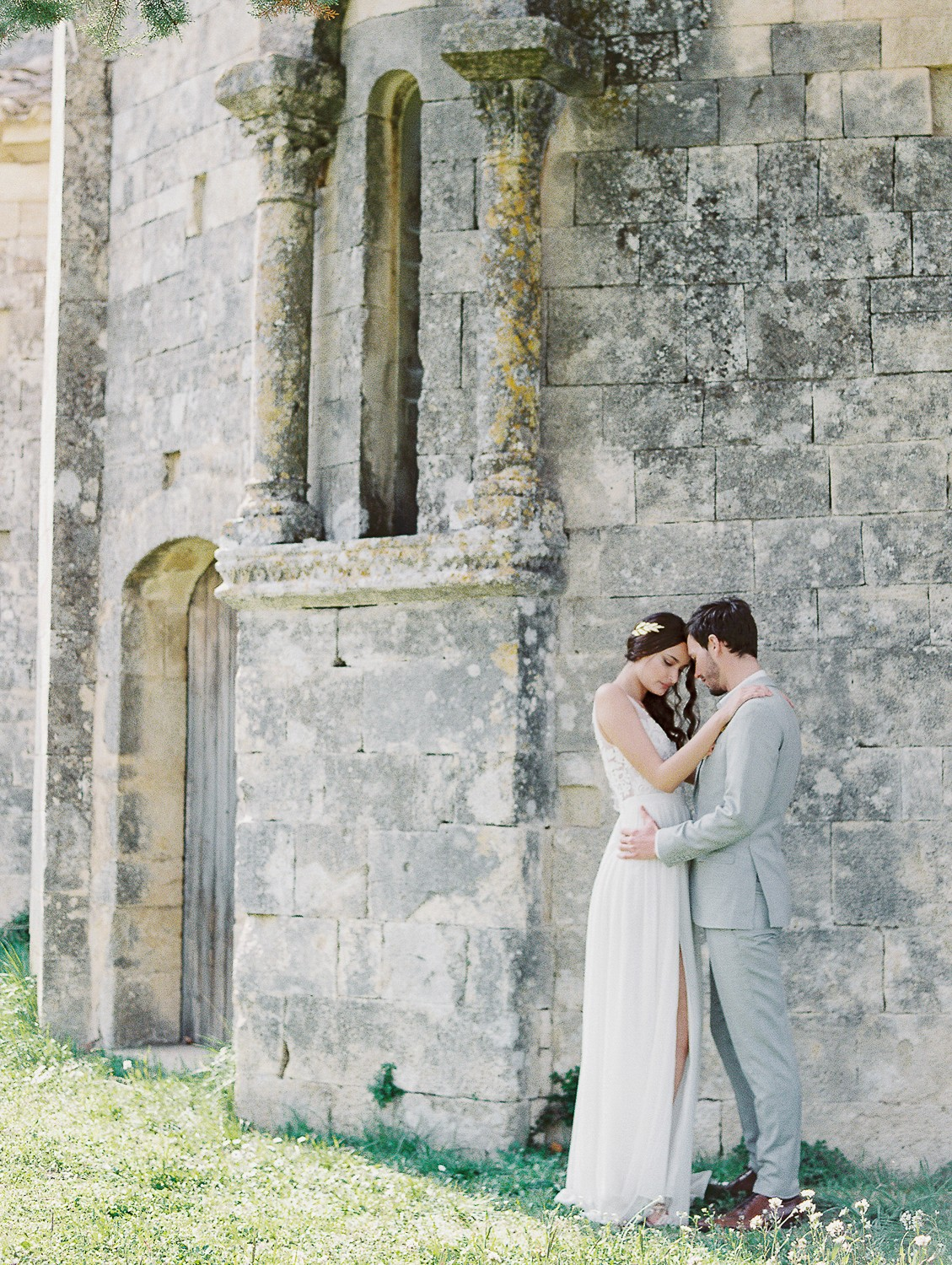 Blush and Marigold Wedding in a Provencal Abbey
