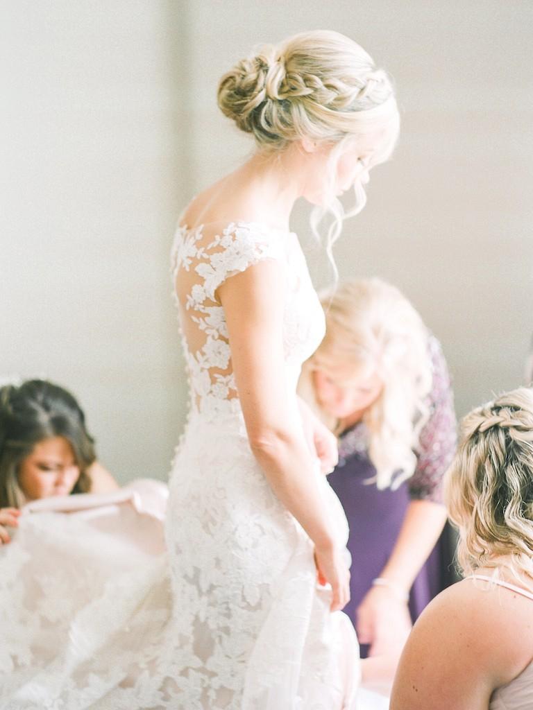 Glamorous Shore Wedding During a Hurricane