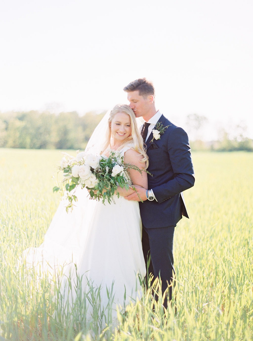 Bride and groom | Heartfelt and Nostalgic Indiana Barn Wedding by Renee Lemaire | Wedding Sparrow fine art wedding blog