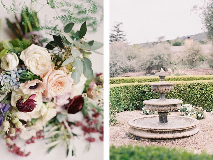 Colorful Romantic Wedding in Carmel Full of Details