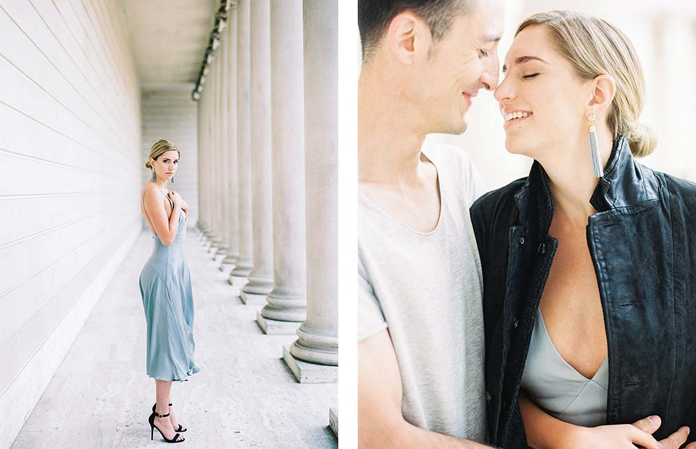 Modern and Sleek Engagement Session by Sally Pinera Photography | Wedding Sparrow