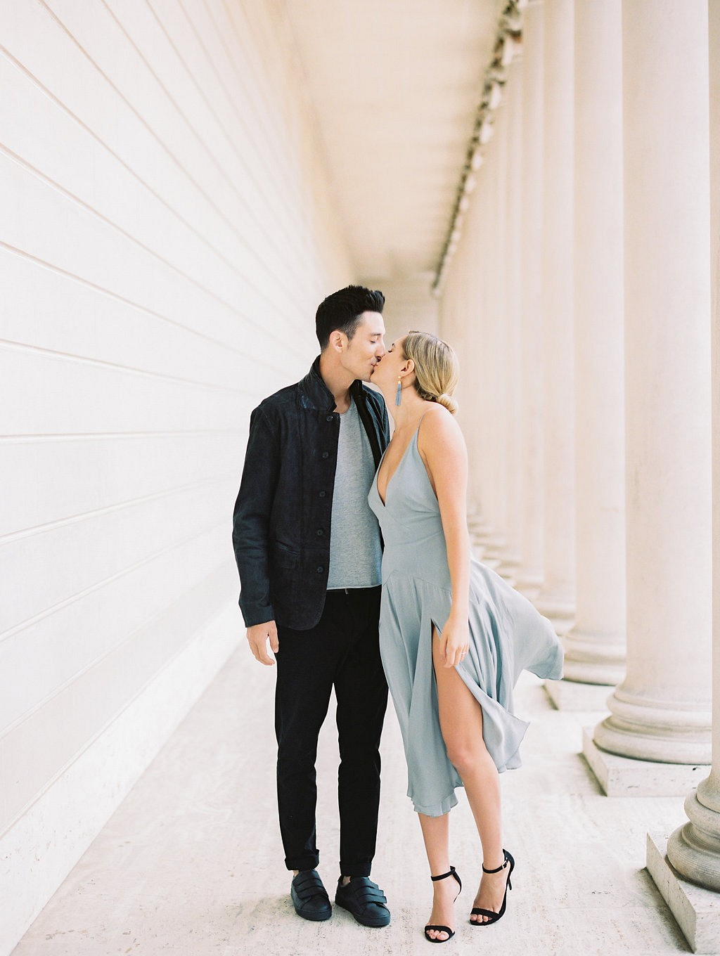 Lauren and Colin's Modern Engagement Session