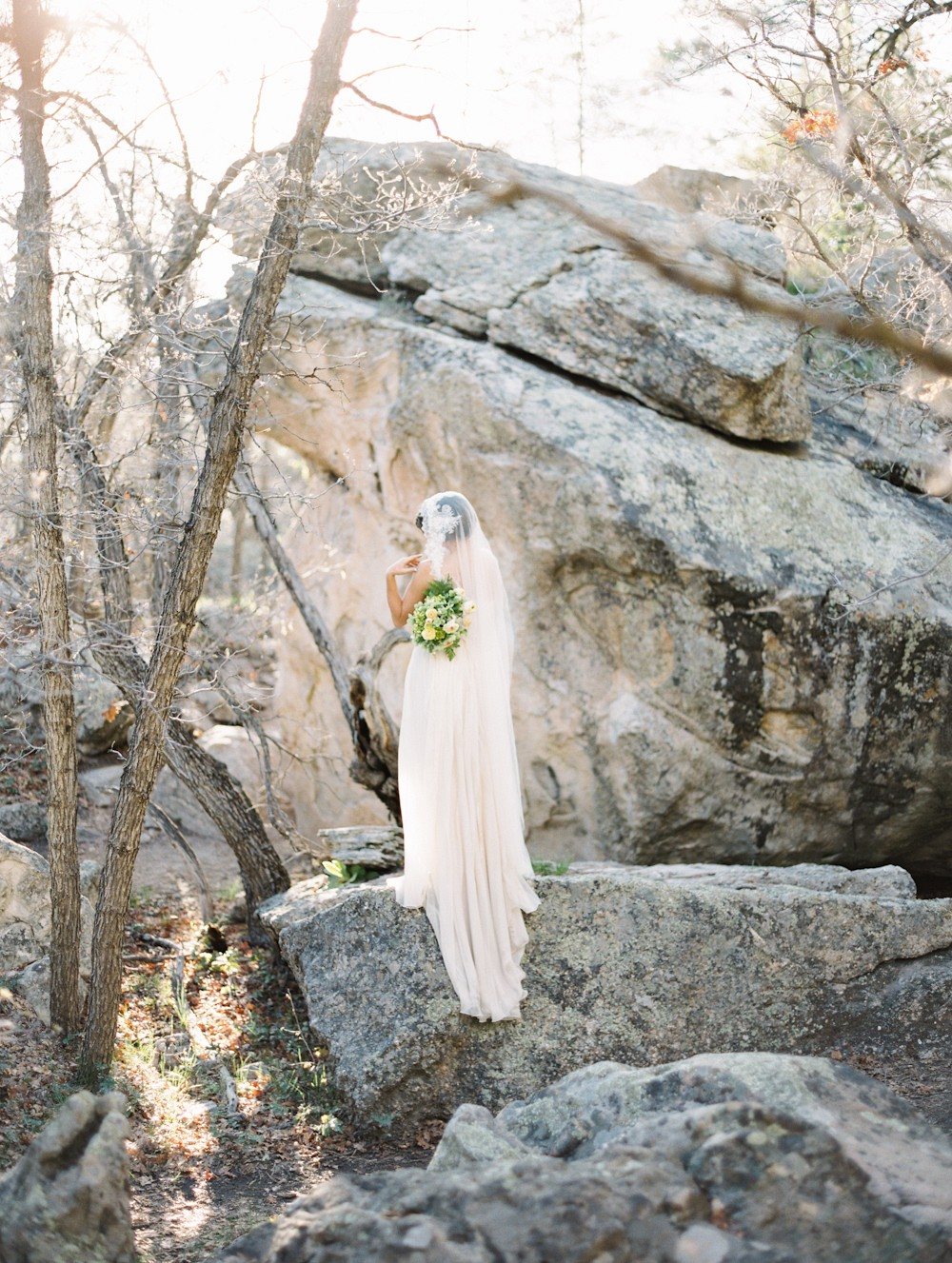 Delicate Bridals on Sandstone Cliffs