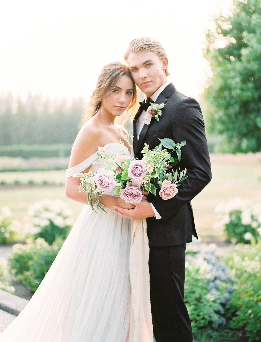 Blush, Rose, and Grey Romantic Wedding Inspiration