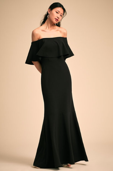 Black Dara dress - BHLDN