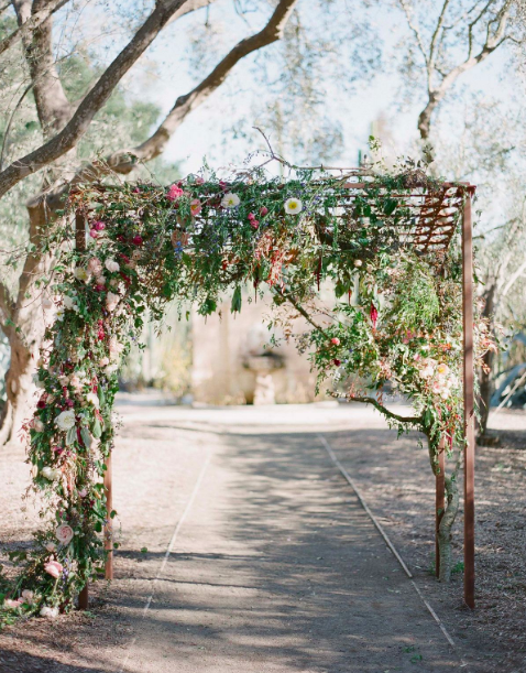 Floral archway Amy Osaba