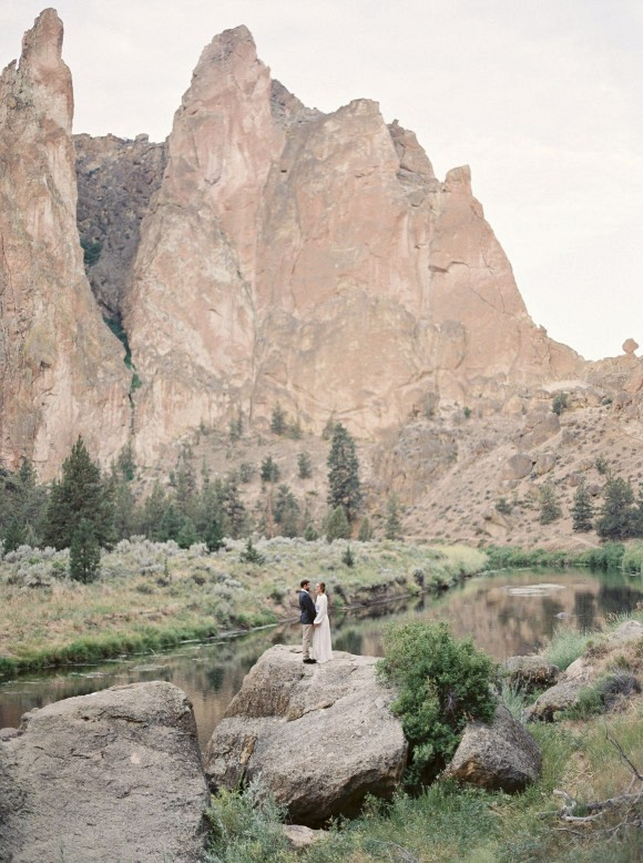 Smith Rock Elopement by Amanda Lenhardt Photography on Wedding Sparrow