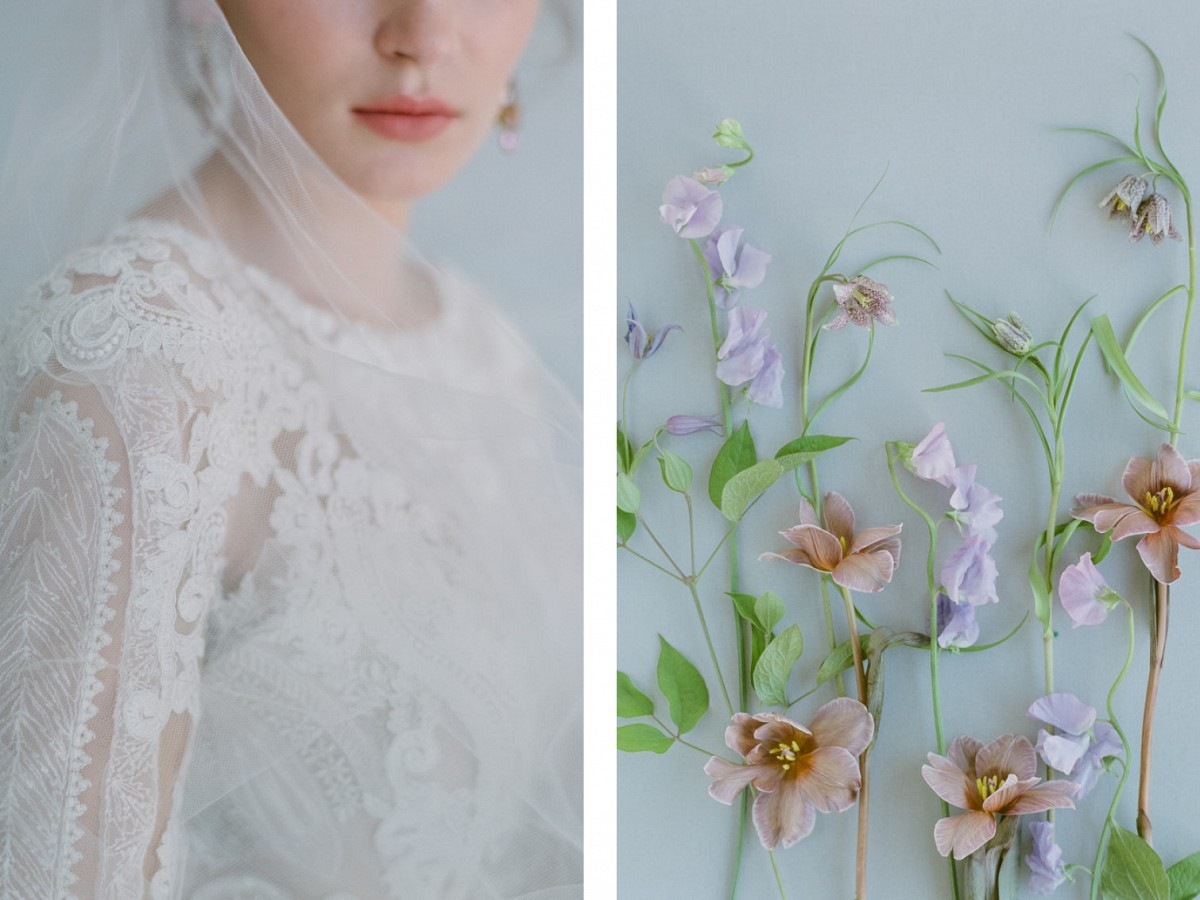 Colorful Bridal Styling with Vintage Jewelry
