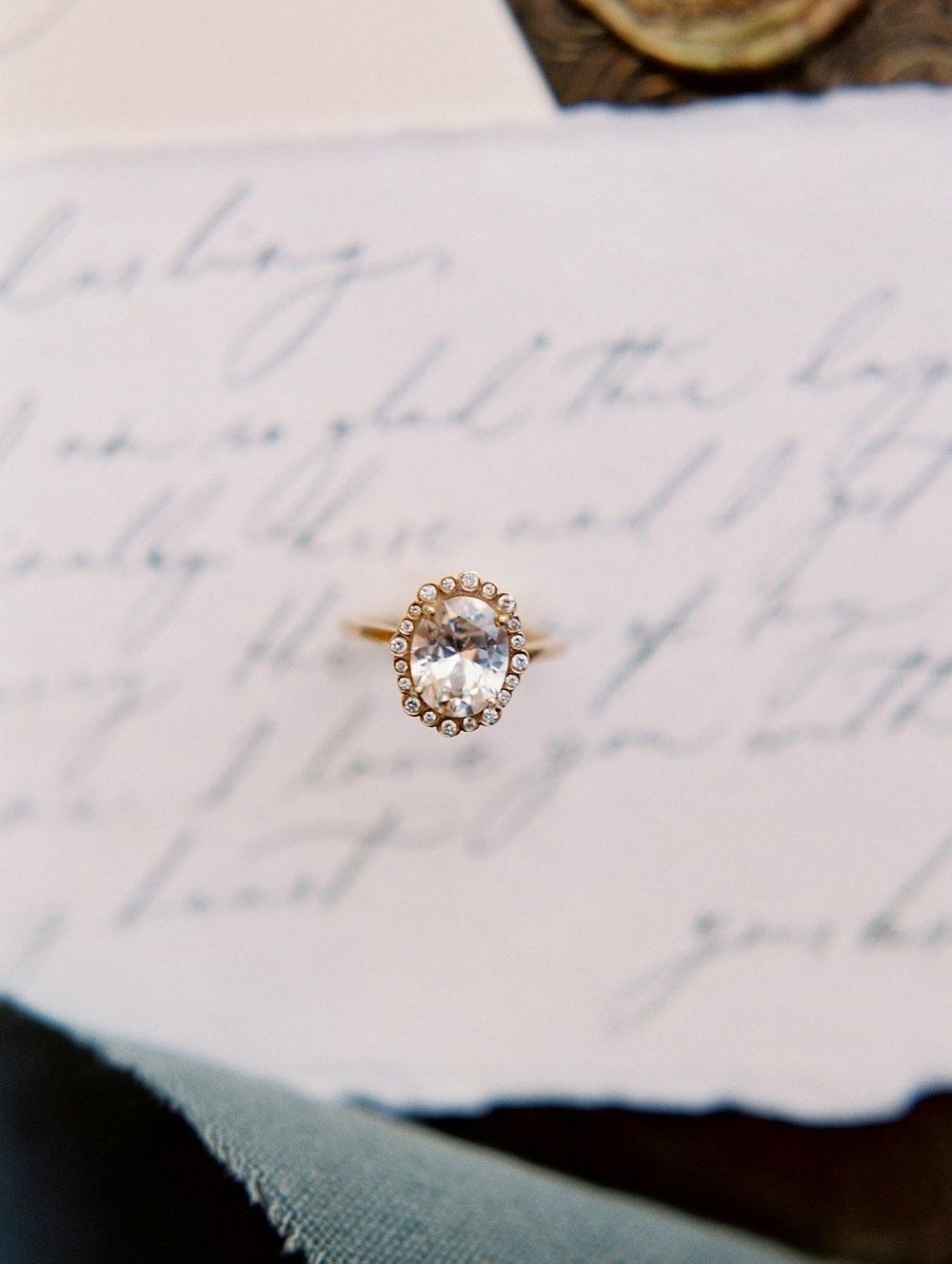 Romantic Slate Grey and Gold Wedding Inspiration