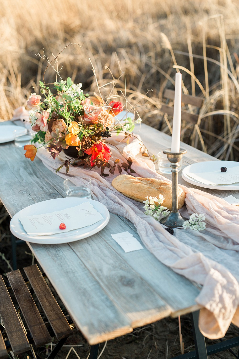 Autumnal Outdoor Organic Wedding Inspiration