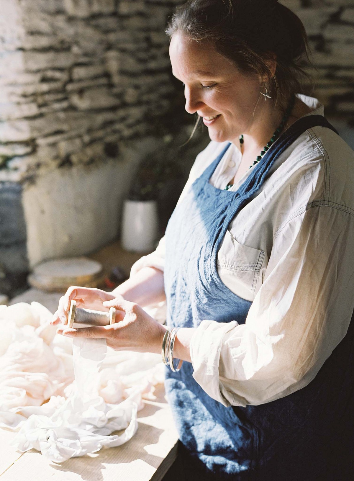 Artisan Profile: The Making of the Wedding Dress, Ribbons, and Stationery