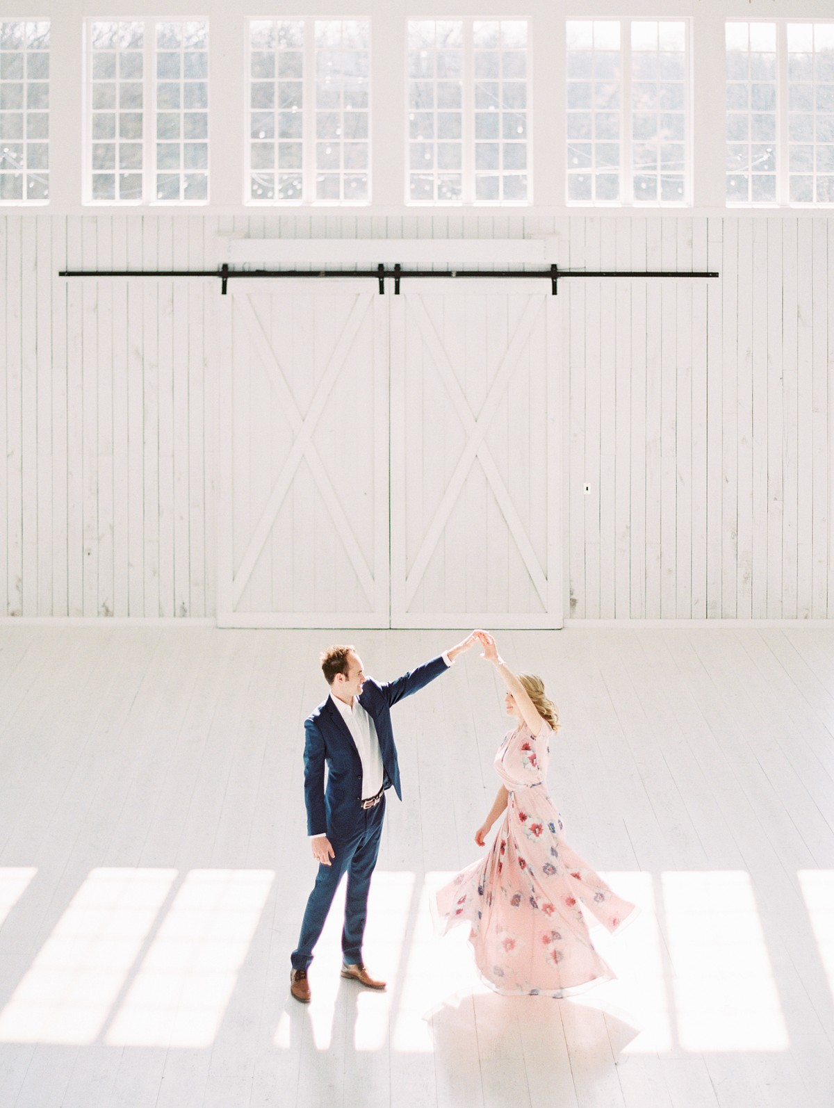 Fixer Upper style Engagement session at The White Sparrow Barn