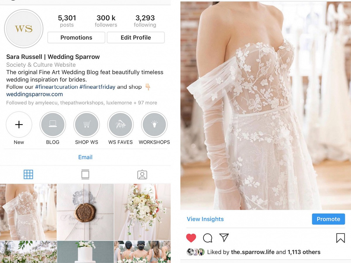 Wedding Sparrow Instagram