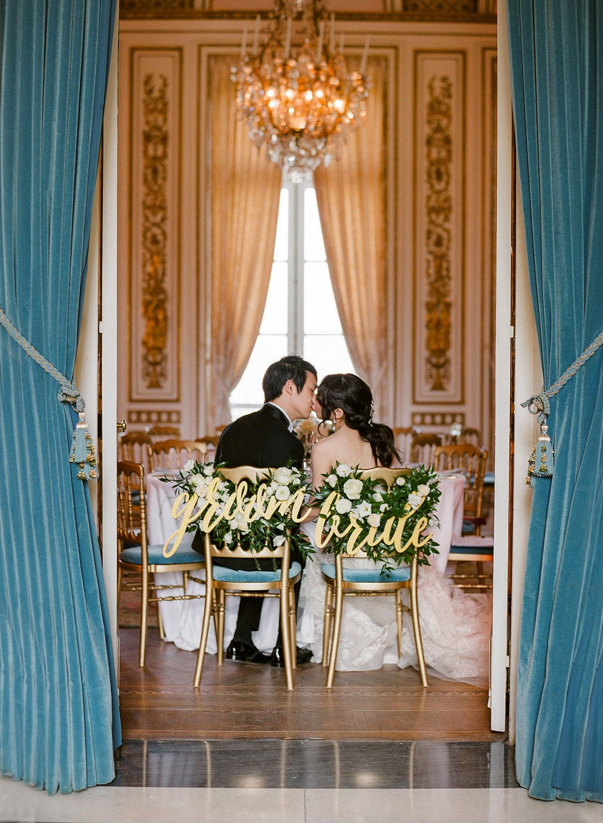 French Dusty Blue Wedding full of Florals