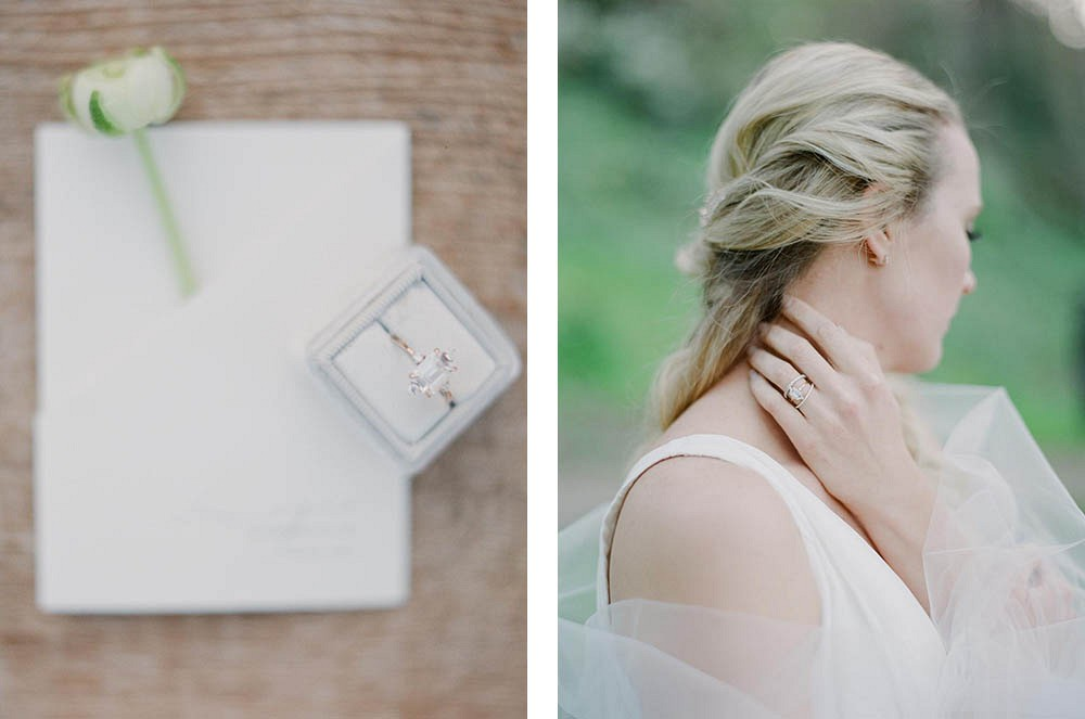 White and Green Classic Elopement by Annabel Walker Photography | Wedding Sparrow | fine art wedding blog