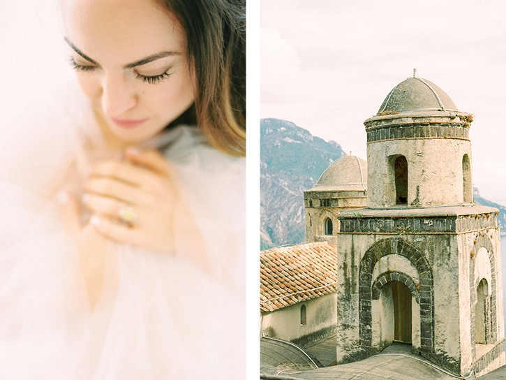 Destination Ravello wedding with Berta wedding dress