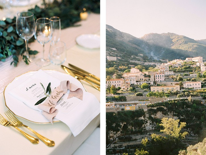 Destination Ravello wedding with Berta wedding dress