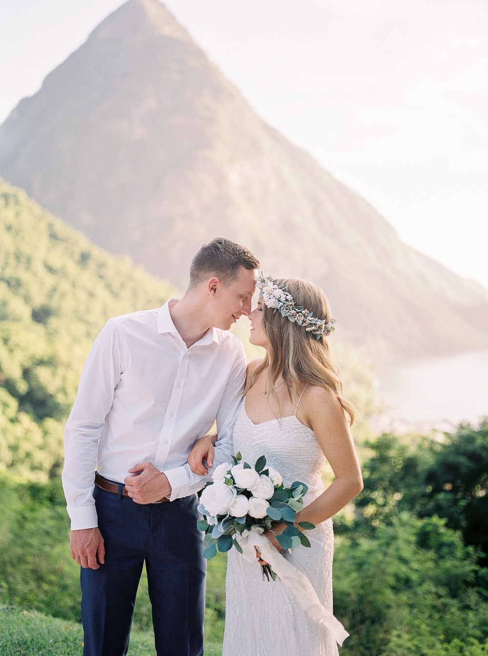 Bonnie and Eric's Scenic St. Lucia Elopement
