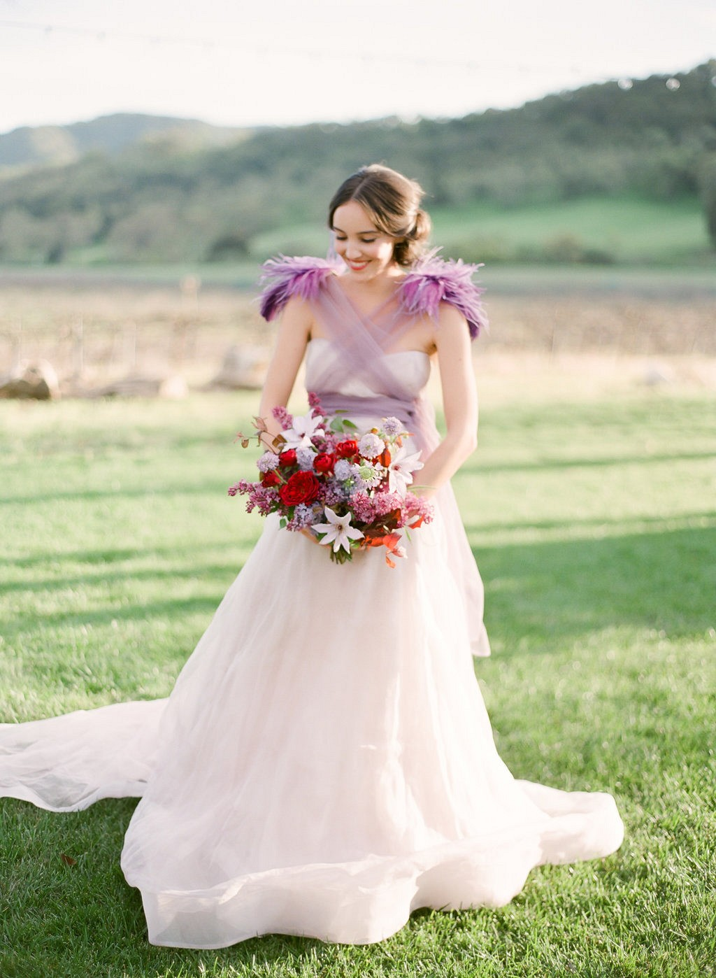 Burgundy and Lilac: An Unexpected Wedding Floral Combination